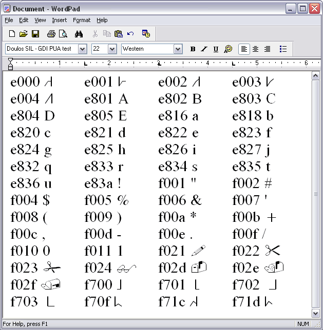 Handling of PUA Characters in Microsoft Software