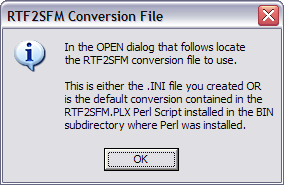 Converting RTF to SFM using RTF2SFM perl script