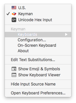Installing a Keyman keyboard on macOS